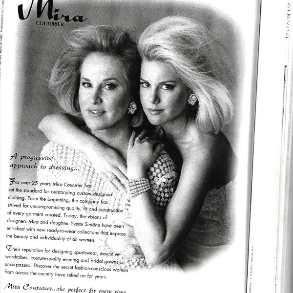 Mira Couture Print Ad 1994