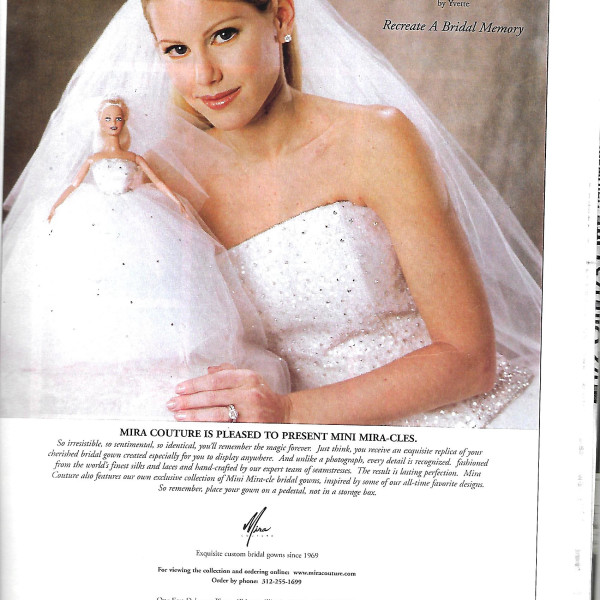 Print Ad features Mini Mira-cles Bridal dolls 2001