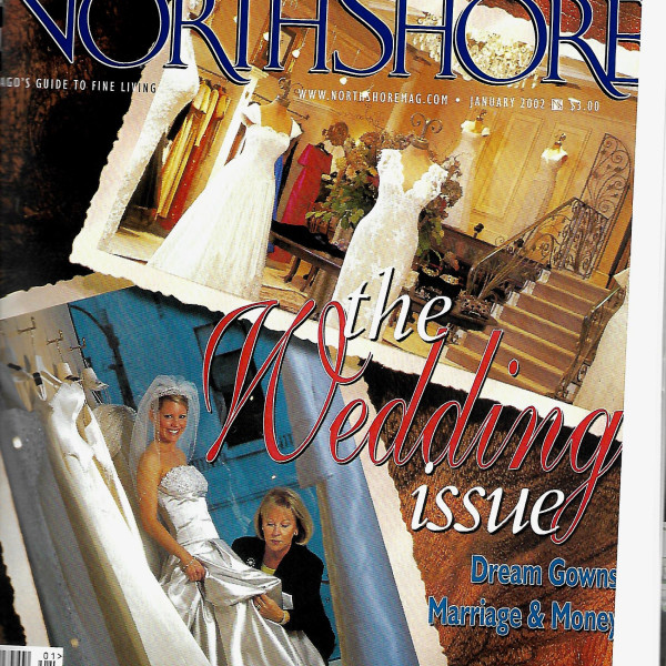 Mira Couture featured on cover of Bridal Issue of North Shore Magazine 2002