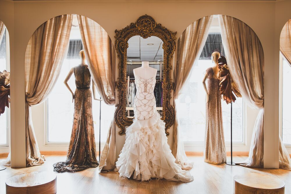 Showroom for Wedding dress cleaning chicago
