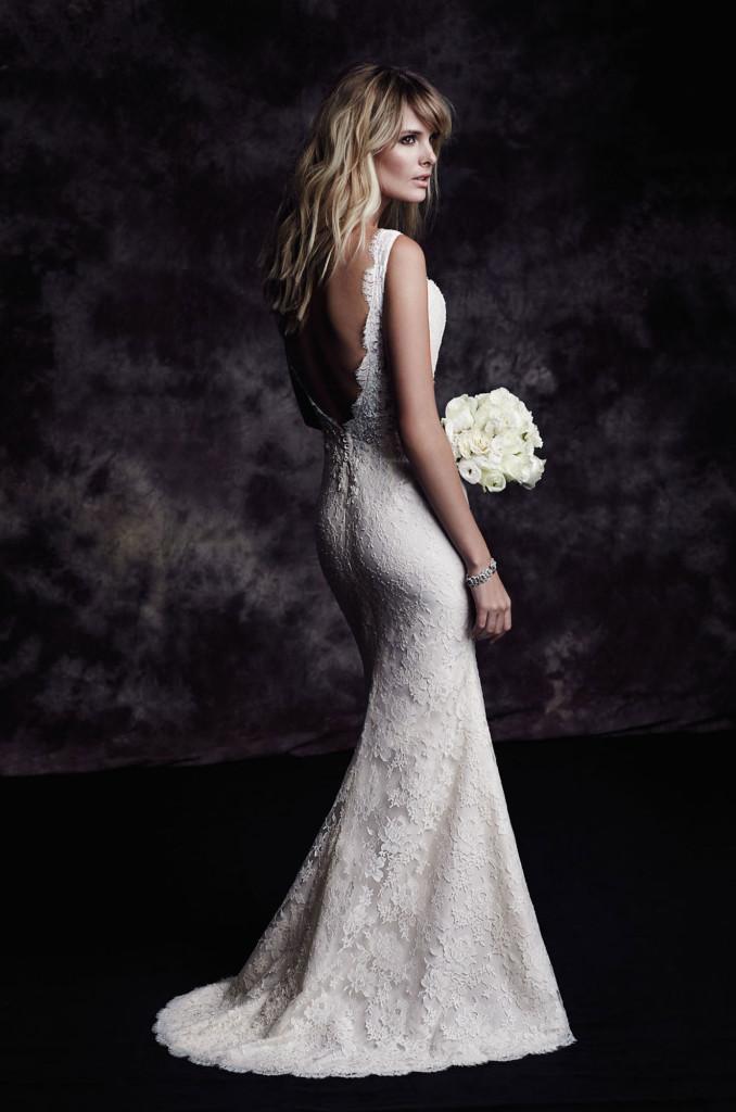 4601 Paloma Blanca Wedding Bridal Gown Chicago Back