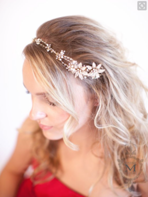 Justine M Couture Gardenia Hairvine Accessories Chicago