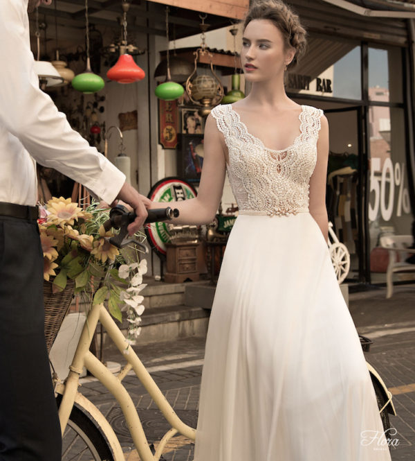Madeline Flora Wedding Bridal Gown Chicago Front