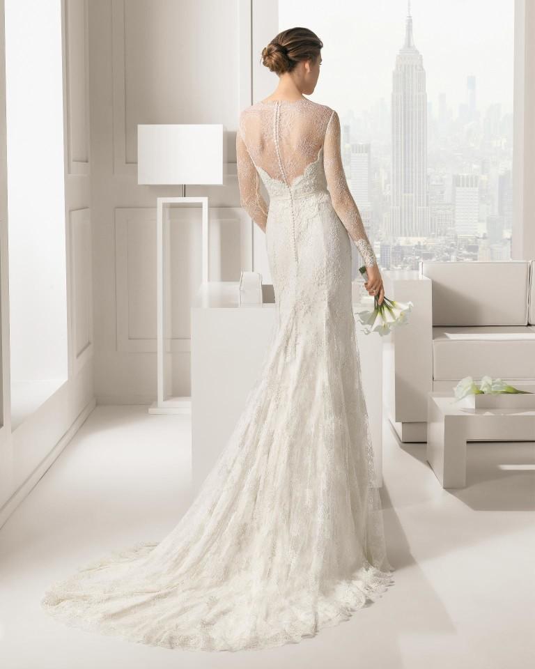 SantaFe Rosa Clara Wedding Bridal Gown Chicago Back