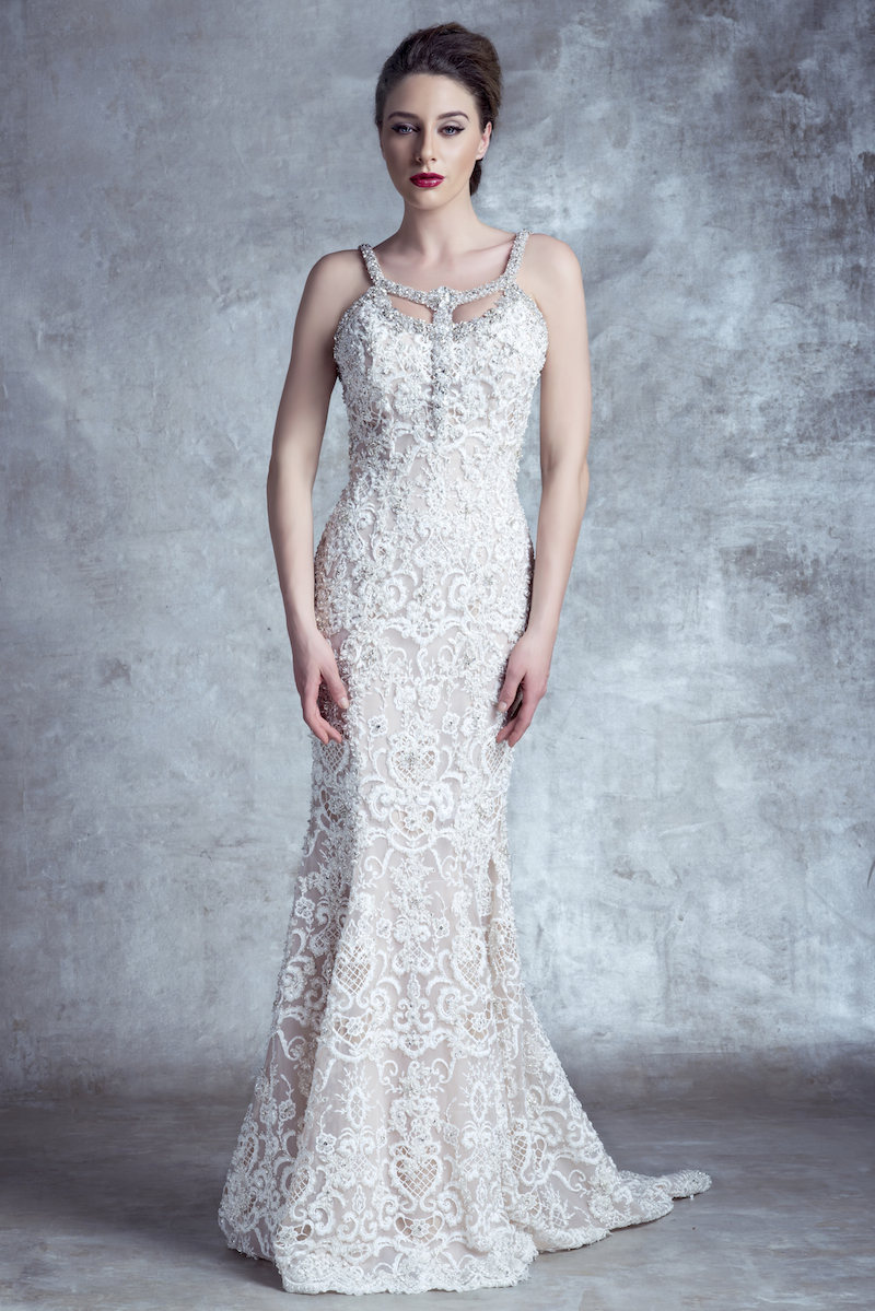 14122X Stephen Yearick Mira Couture Gown Chicago