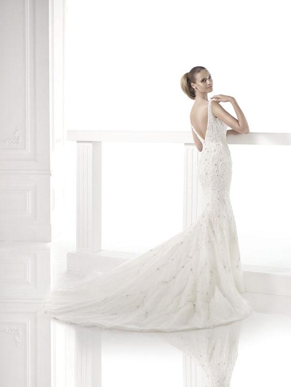Claudiane Atelier Pronovias Wedding Bridal Gown Chicago Back