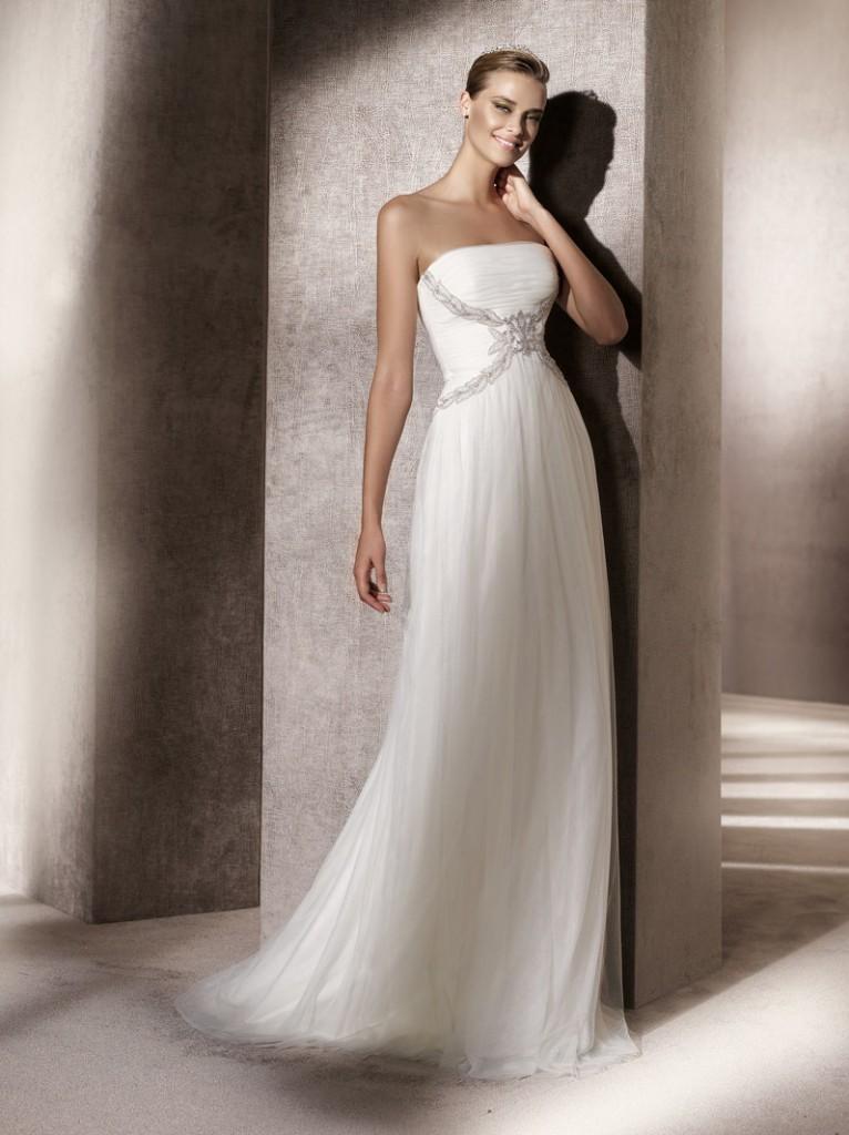 Ebano by atelier pronovias for Sample wedding dresses chicago
