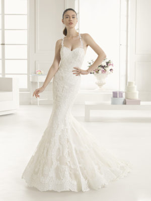 Estripe Rosa Clara Two Mira Couture Wedding Bridal Gown Chicago
