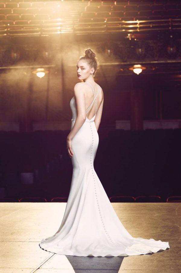 Mira Couture Paloma Blanca Wedding Bridal Chicago 4714 Back