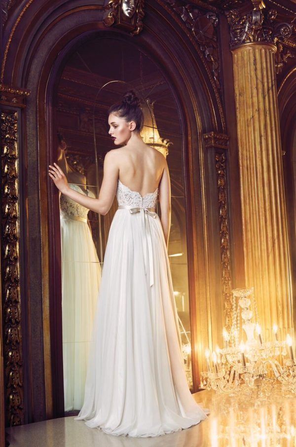 Mira Couture Paloma Blanca Wedding Bridal Gown Chicago 4704 Back