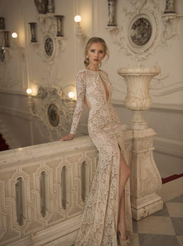 Mira Couture Netta Benshabu Bridal Gown Chicago 1502 Side