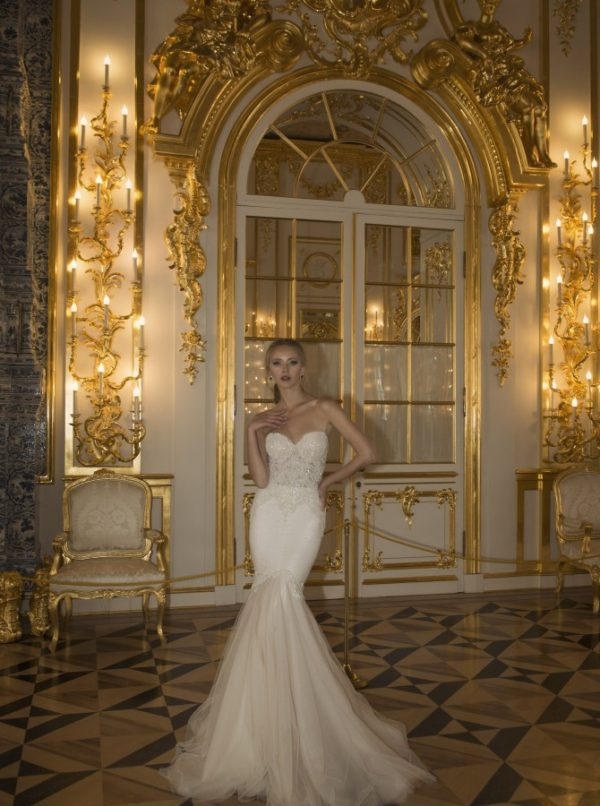 Mira Couture Netta Benshabu Bridal Gown Chicago 1505 Arm Front
