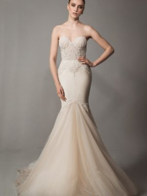 Mira Couture Netta Benshabu Bridal Gown Chicago 1505 Front