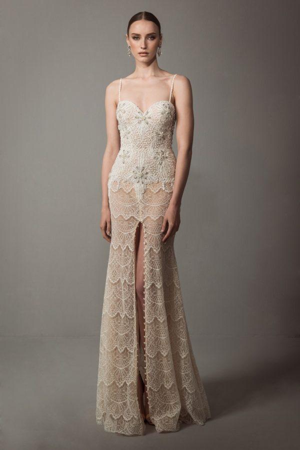 Mira Couture Netta Benshabu Bridal Gown Chicago 1508 Front