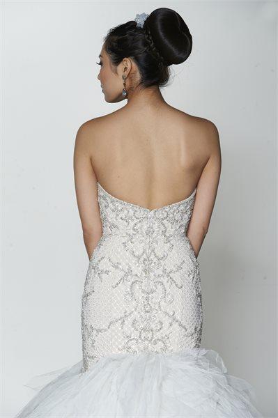mira couture yumi katsura dove wedding bridal gown back detail