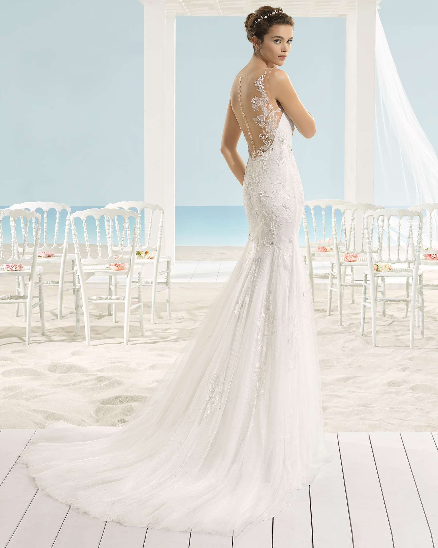 Beach Wedding Dresses Chicago : Barcelona xaman beach bridal wedding dress gown chicago g