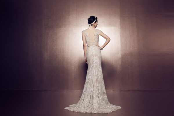 Mira Couture Daalarna Ballet 130 Bridal Wedding Gown Dress Chicago Back