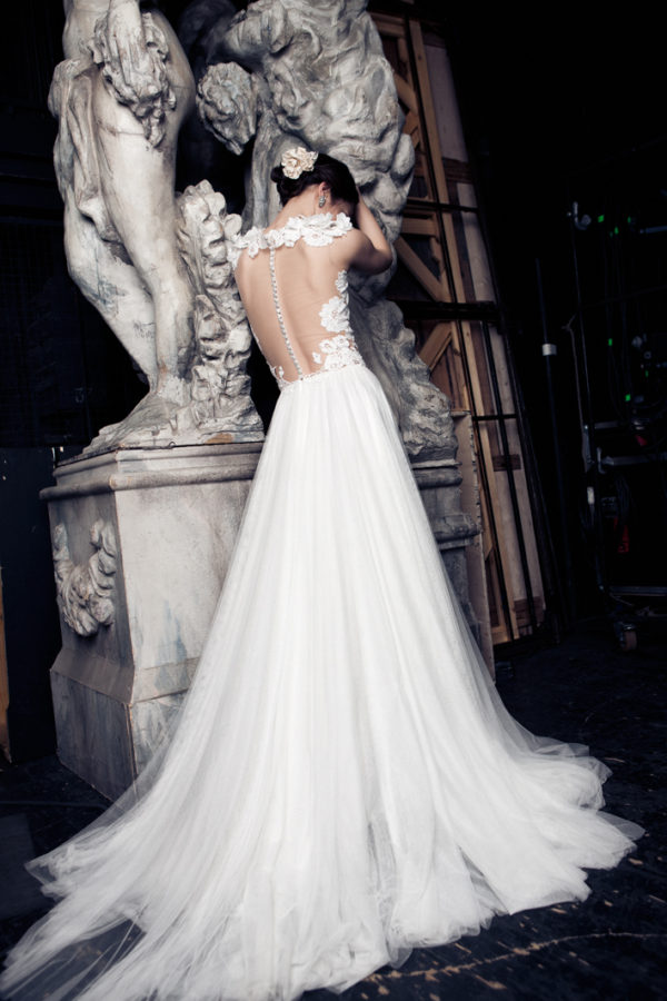 Mira Couture Daalarna Ballet 141 Bridal Wedding Gown Dress Chicago Back
