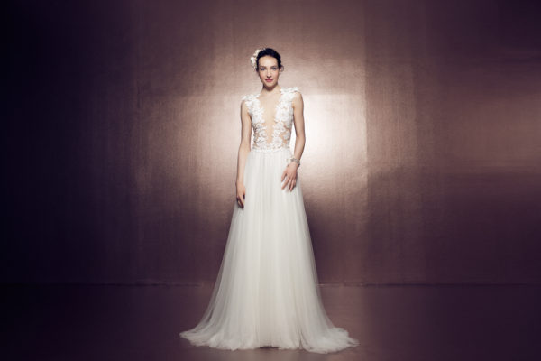Mira Couture Daalarna Ballet 141 Bridal Wedding Gown Dress Chicago Front