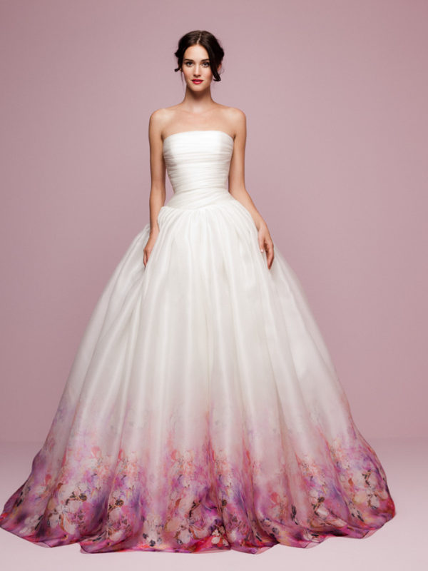 Handmade Wedding Dresses Chicago : Daalarna flower bridal wedding gown dress chicago front long