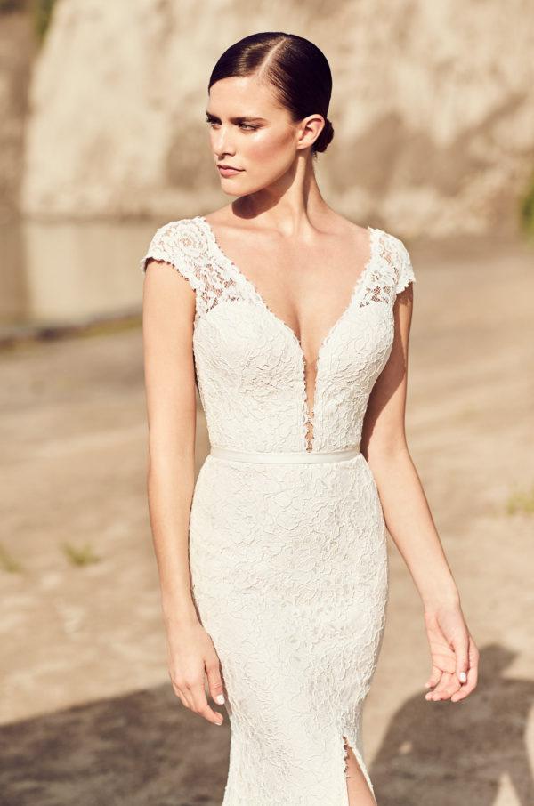 mira couture mikaella paloma blanca 2116 wedding bridal gown dress boutique chicago detail