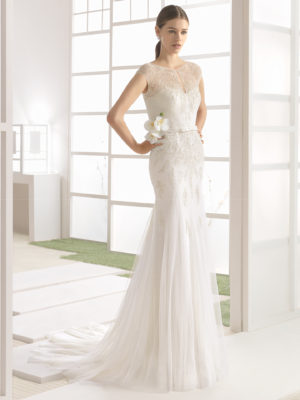 Mira Couture Rosa Clara Soft Wilbour Bridal Wedding Gown Dress Chicago Boutique Front