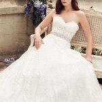 mira couture paloma blanca 4738 wedding bridal dress gown chicago boutique sitting