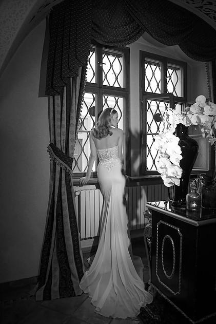 Mira Couture Netta Benshabu Kirra Wedding Bridal Dress Gown Chicago Boutique Back Full