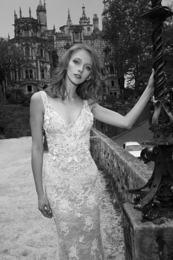 Mira Couture Netta Benshabu Victoria Wedding Bridal Dress Gown Chicago Boutique Front Detail