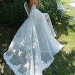 Mira Couture Shlomit Azrad Israeli Christin Wedding Bridal Gown Dress Chicago Boutique Back