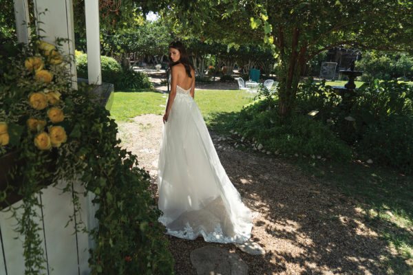 Mira Couture Shlomit Azrad Israeli Christin Wedding Bridal Gown Dress Chicago Boutique Back Train