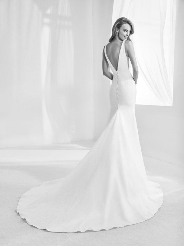 Mira Couture Atelier Pronovias Racimo Wedding Bridal Gown Dress Chicago Boutique Back