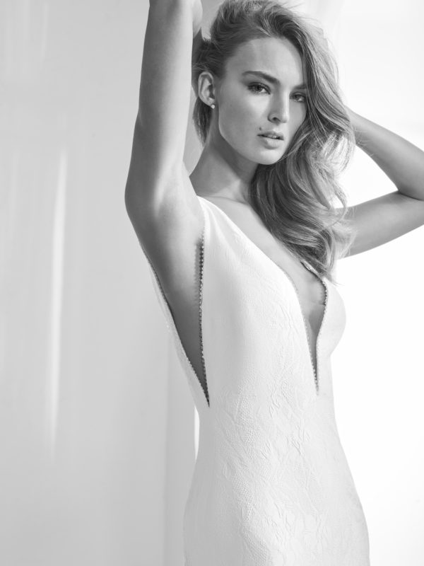 Mira Couture Atelier Pronovias Racimo Wedding Bridal Gown Dress Chicago Boutique Detail
