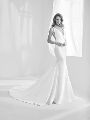 5810adfa3f6 Mira Couture Atelier Pronovias Racimo Wedding Bridal Gown Dress Chicago  Boutique Front