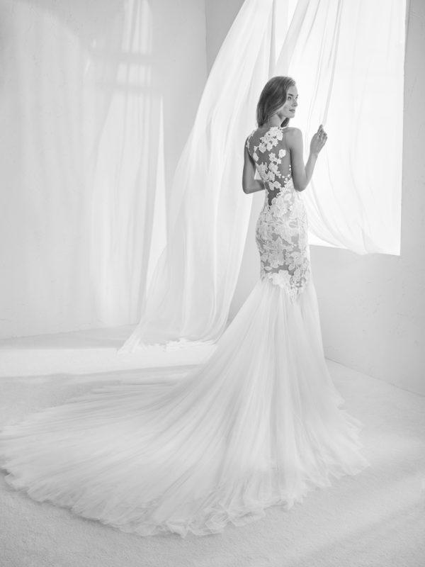 Mira Couture Atelier Pronovias Raen Wedding Bridal Gown Dress Chicago Boutique Back