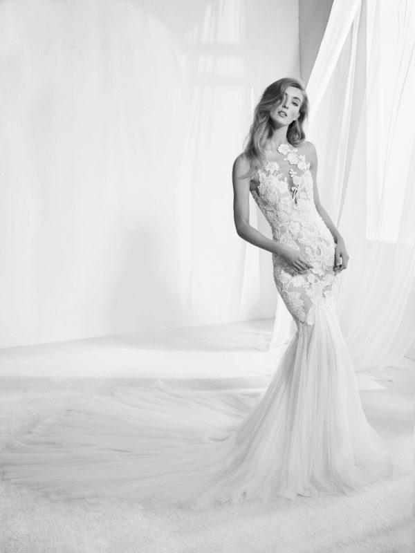 Mira Couture Atelier Pronovias Raen Wedding Bridal Gown Dress Chicago Boutique Front
