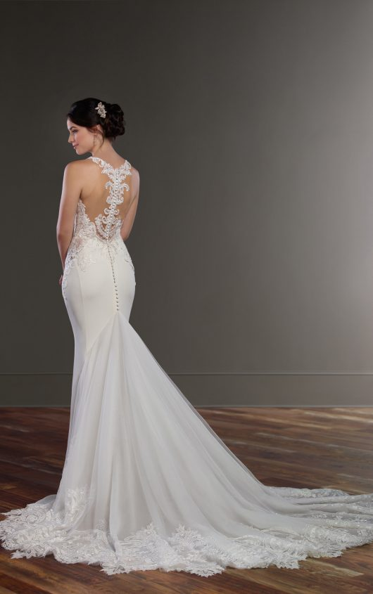 Mira Couture Martina Liana 873 Wedding Bridal Dress Gown Chicago Boutique Back Detail