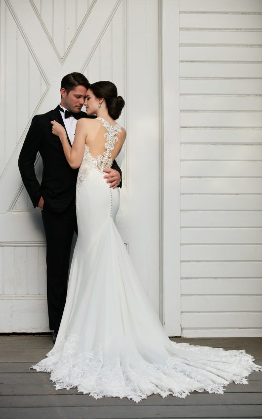 Mira Couture Martina Liana 873 Wedding Bridal Dress Gown Chicago Boutique Back