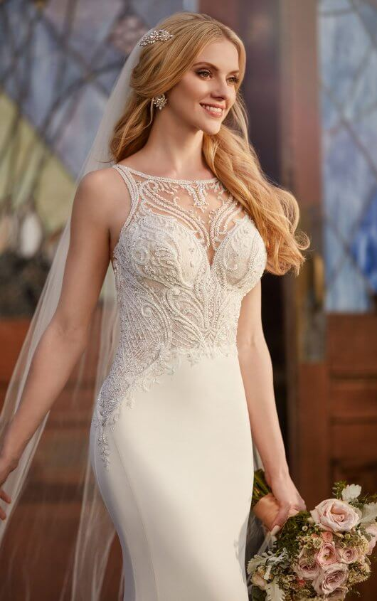 Mira Couture Martina Liana 875 Wedding Dress Bridal Gown Chicago Salon Boutique Detail