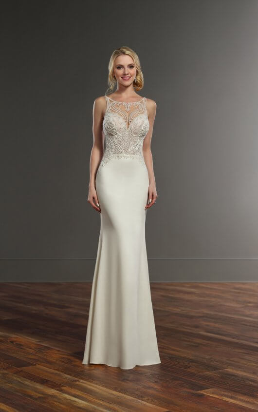Mira Couture Martina Liana 875 Wedding Dress Bridal Gown Chicago Salon Boutique Front Gown