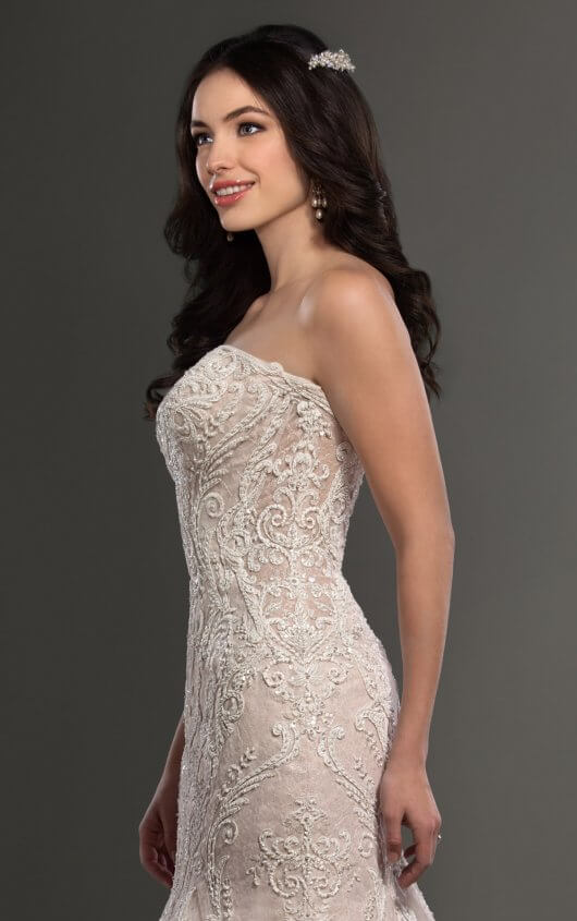 Mira Couture Martina Liana 895 Wedding Dress Bridal Gown Chicago Salon Boutique Detail