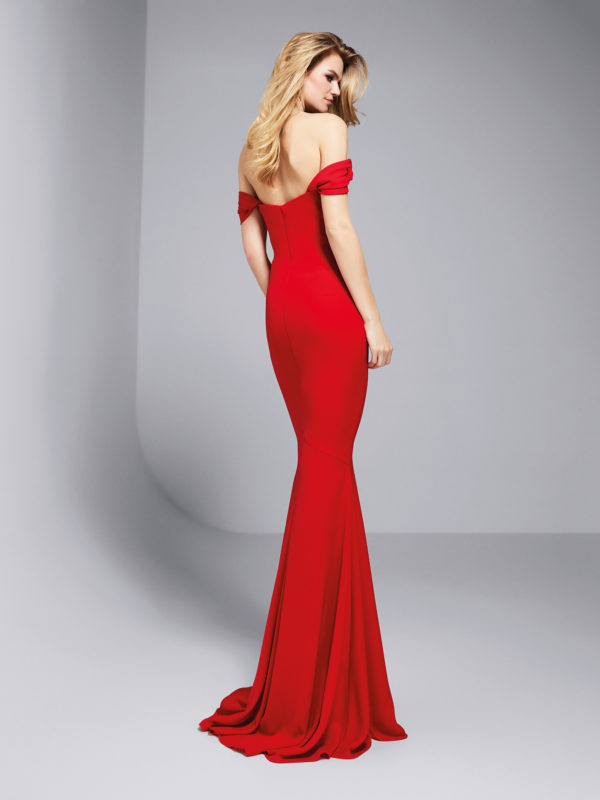 Mira Couture Atelier Pronovias Georgeta Evening Gown Cocktail Dress Chicago Boutique Back