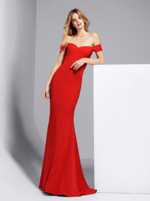 Mira Couture Atelier Pronovias Georgeta Evening Gown Cocktail Dress Chicago Boutique Front
