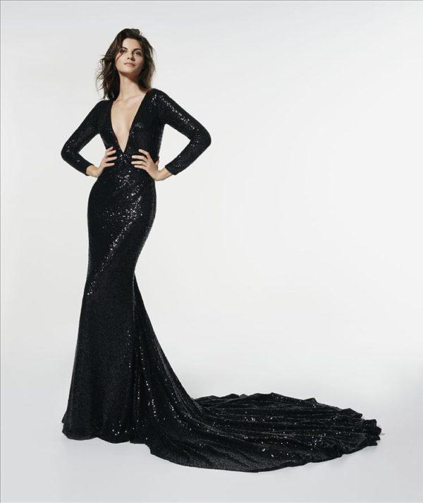 Mira Couture Atelier Pronovias Glasgow Evening Gown Cocktail Dress Chicago Boutique Front