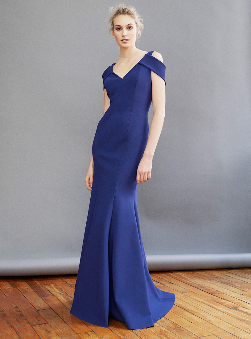 Mira Couture Frascara Beker 3334 Evening Gown Cocktail Dress Chicago Boutique Front