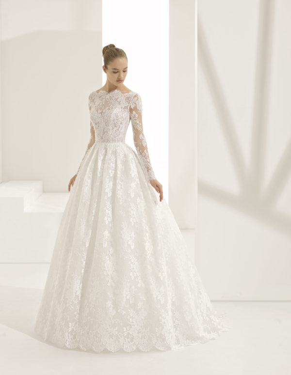 Mira Couture Rosa Clara Couture Pastora Wedding Gown Bridal Dress Chicago Boutique Front