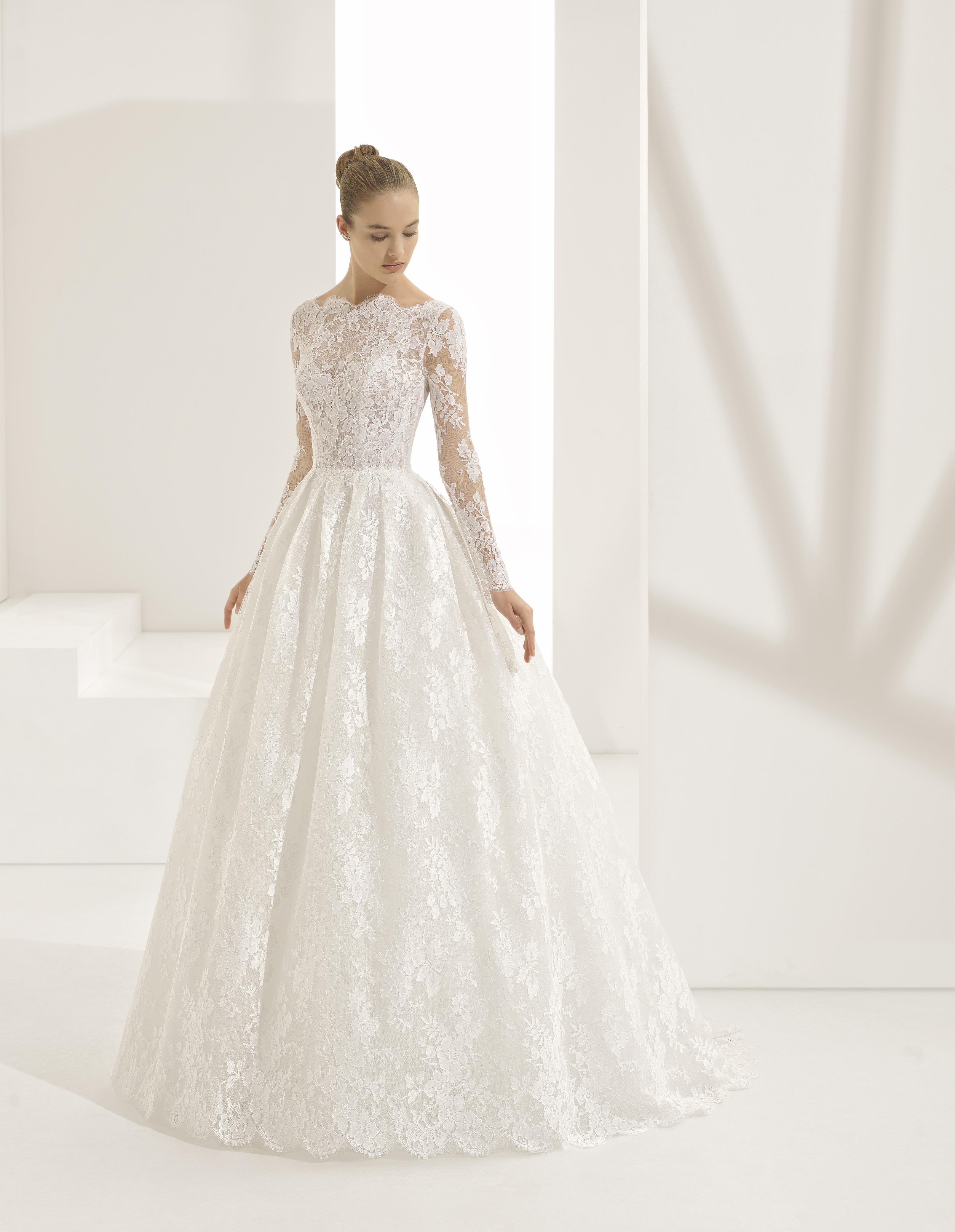 Mira Couture Rosa Clara Pastora Wedding Gown Bridal Dress Chicago Boutique Front