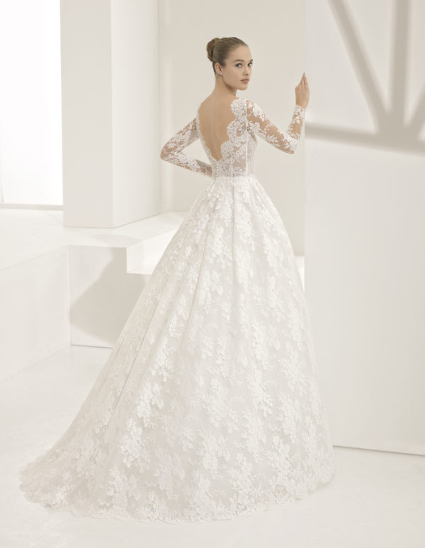 Mira Couture Rosa Clara Couture Pastora Wedding Gown Bridal Dress Chicago Boutique Back