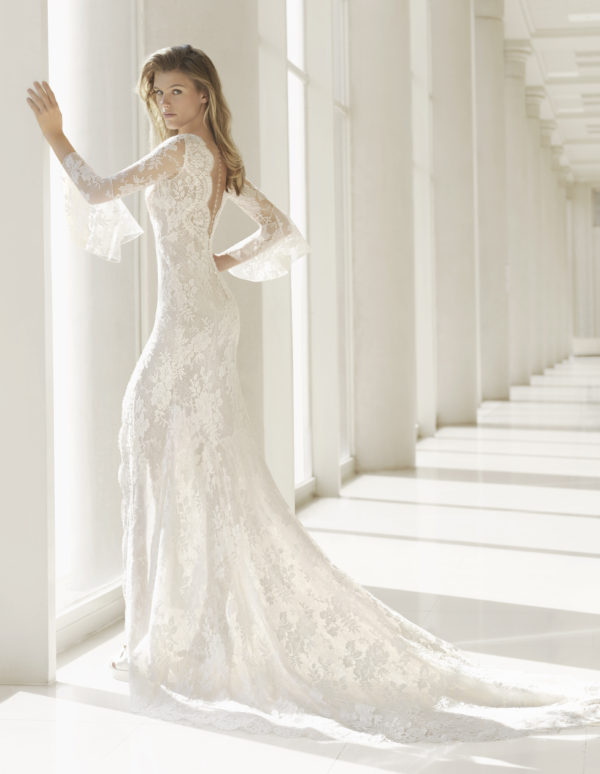 Mira Couture Rosa Clara Couture Ponte Wedding Gown Bridal Dress Chicago Boutique Back