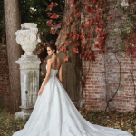 Mira Couture Justin Alexander Signature Wedding Dress Bridal Gown 9858 Chicago Boutique Salon Back
